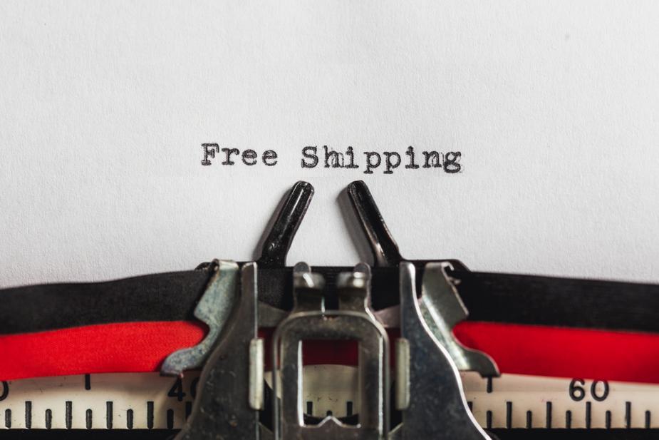 tekst met free shipping