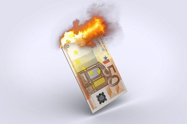 rood staan bij de bank kost veel geld