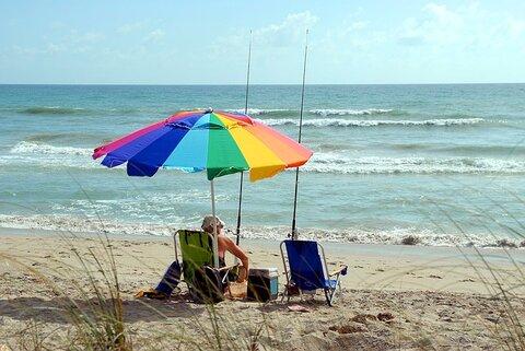 Als ik eerder kan stoppen met werken wil ik gaan vissen op het strand